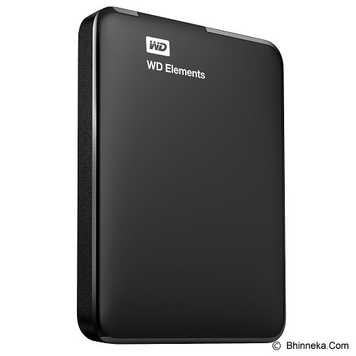 WD Elements New Edition USB 3.0 500GB [WDBUZG5000ABK-EESN] - Hard Disk External 2.5 Inch